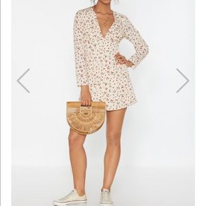 Nasty Gal Call Floral Mini Dress